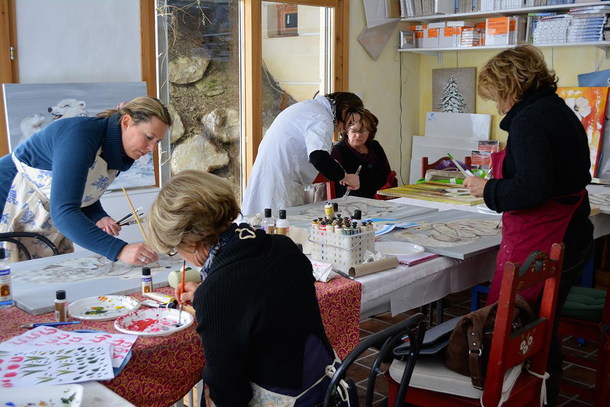 Atelier peinture à Domancy