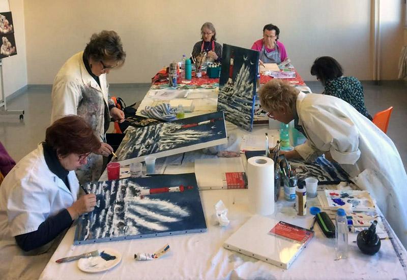 Atelier de peinture à Saint Pierre