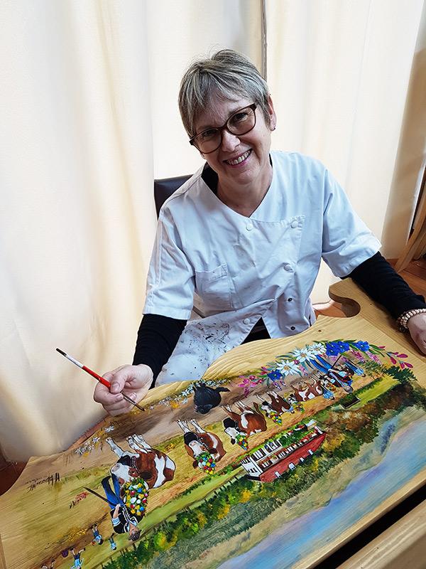MC Mabboux en trein de peindre une poya